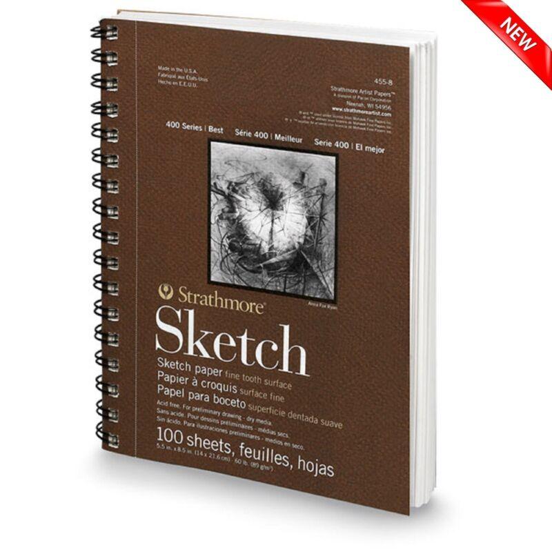 "100 Sheet Sketch Pad Notebook 5.5"" x 8.5"" Premium Art Drawing Paper Sketchbook"