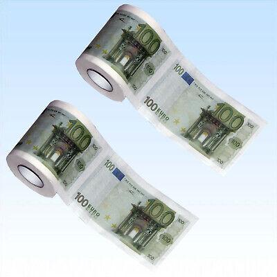 Toilettenpapier 100 Euro 2 Rollen Klopapier Toilette WC Papier Tuch JGA Geschenk