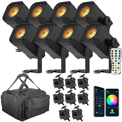 Chauvet EZLink Par Q1BT Compact Battery-Powered RGBA Wash w/ Bluetooth 8 Pack