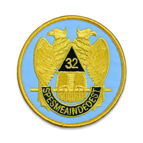 32nd Degree Eagle Round Embroidered Masonic Patch
