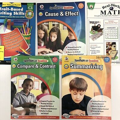 Homeschool 5 Book Lot Grades 5 6 English Writing Math Reading Frank Schaffer Pub Frank Schaffer Reading