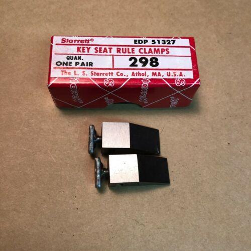 Starrett No. 298 Key Seat Rule Clamps Machinist