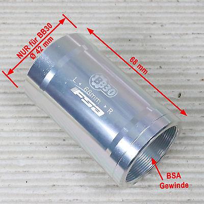 FSA Achs Adapter EE113 BB30 PF30 auf 24 mm MegaExo NB Road Kurbel bei 68 mm