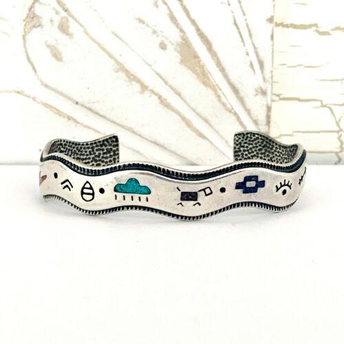 Carolyn Pollack Carlisle Sterling Silver 925 Turquoise Storyteller Cuff Bracelet