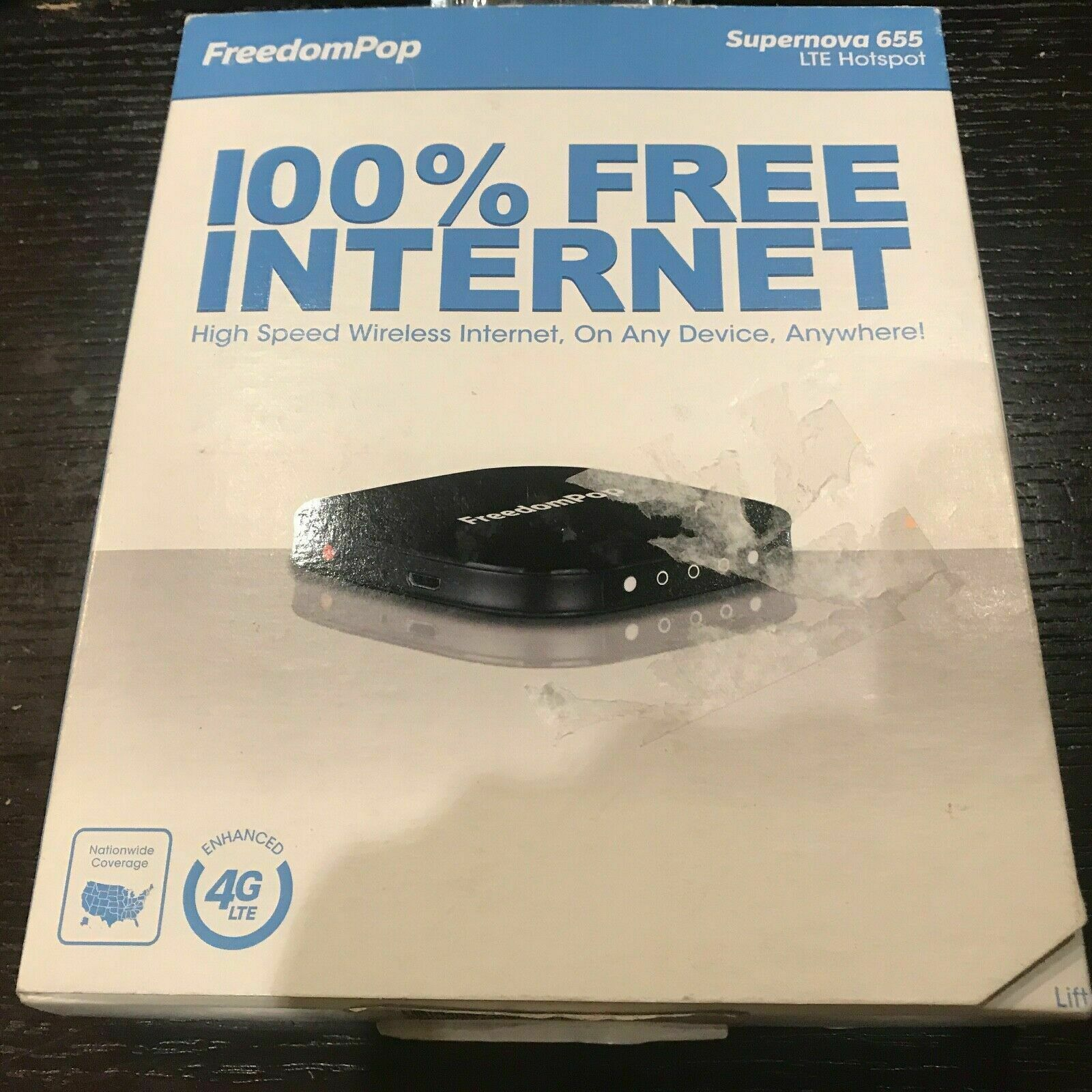 FreedomPop Supernova 655 LTE Hotspot 100 Internet