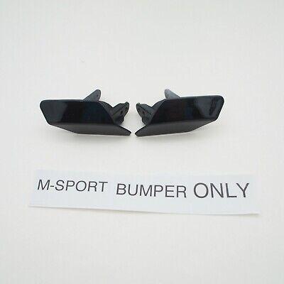 Headlight Washer Cover Pair LH RH Side For BMW 3er F30 F31 M Sport 11-19 Black