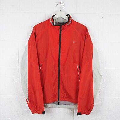 Vintage NAUTICA Red Full Zip Up Windbreaker Nylon Jacket Size Mens Large /R21073