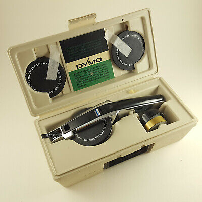 Vintage Dymo 1550 Tapewriter Label Maker In Case With 3 Wheels Tape -free Ship