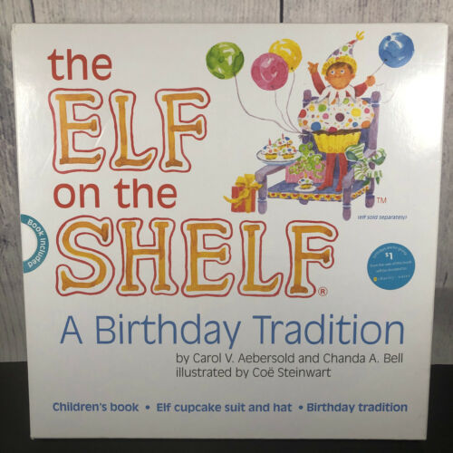 The Elf on the Shelf A Birthday Tradition Book & Elf Cupcake Outfit NEW 2013