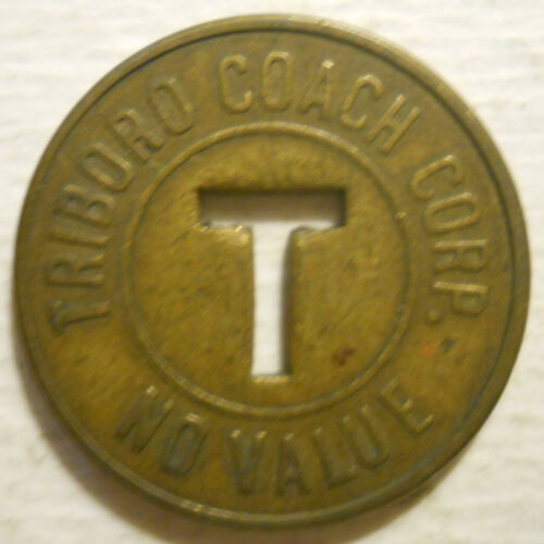 Triboro Coach Corp. (Queens, New York) transit token - NY631L