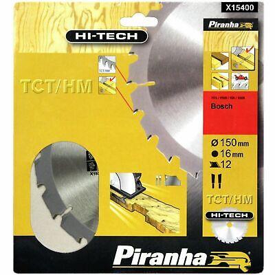 Piranha X15400 Hi-tech 150mm X 16mm 12t Tct Circular Saw Blade. Wood With Nails