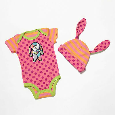 Enesco Romero Britto bebe Girl 0-6 One size and Hat NWT 4037377