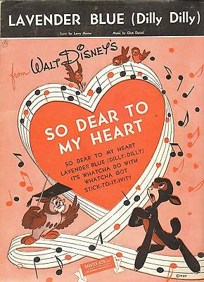Walt Disney's so Dear To My Heart Lavendel Blau Dilly Dilly Us Notenblatt gebraucht kaufen  Versand nach Germany