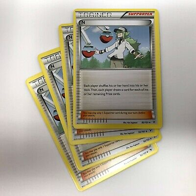 4x N Trainer 92/101 Non-Holo Noble Victories Pokemon Card Playset