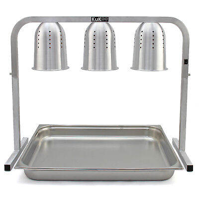 Food Heat Lamps Heated Carvery Display Buffet Warmer Hot Catering Server Unit