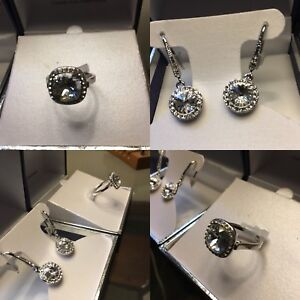 Swarovski earrings and ring size 8