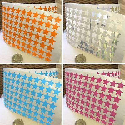 280 Star Shape Vinyl Stickers 15mm Self Adhesive Peel & Stick Colour Label 1000E