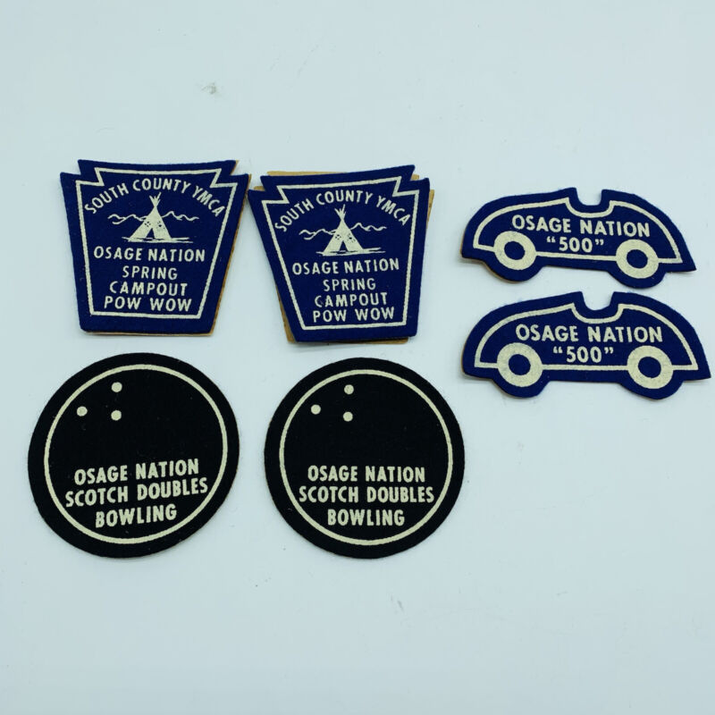 Set of 6 Osage Nation Stickers/Patches