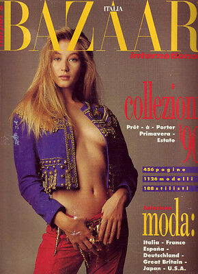 BAZAAR ITALIA INTERNATIONAL 1989 SPRING COLLECTION 1990