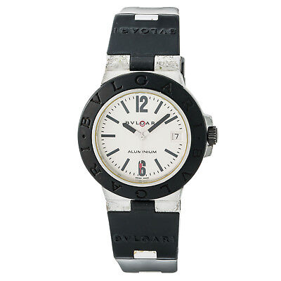Bvlgari Diagano AL 38 A Mens Automatic Watch Cream Dial Rubber Band 38MM ()
