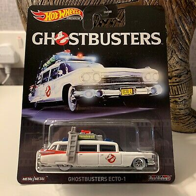 Hot Wheels Premium Retro Entertainment Real Riders Ghostbusters Ecto-1