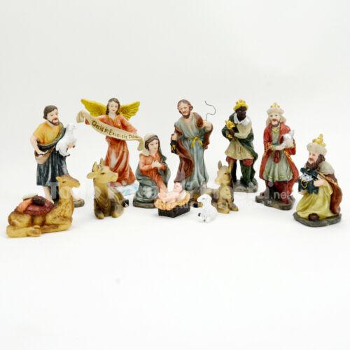 Christmas Nativity Scene Set Baby Jesus Hand Painted Nacimiento Navidad 13 Piece