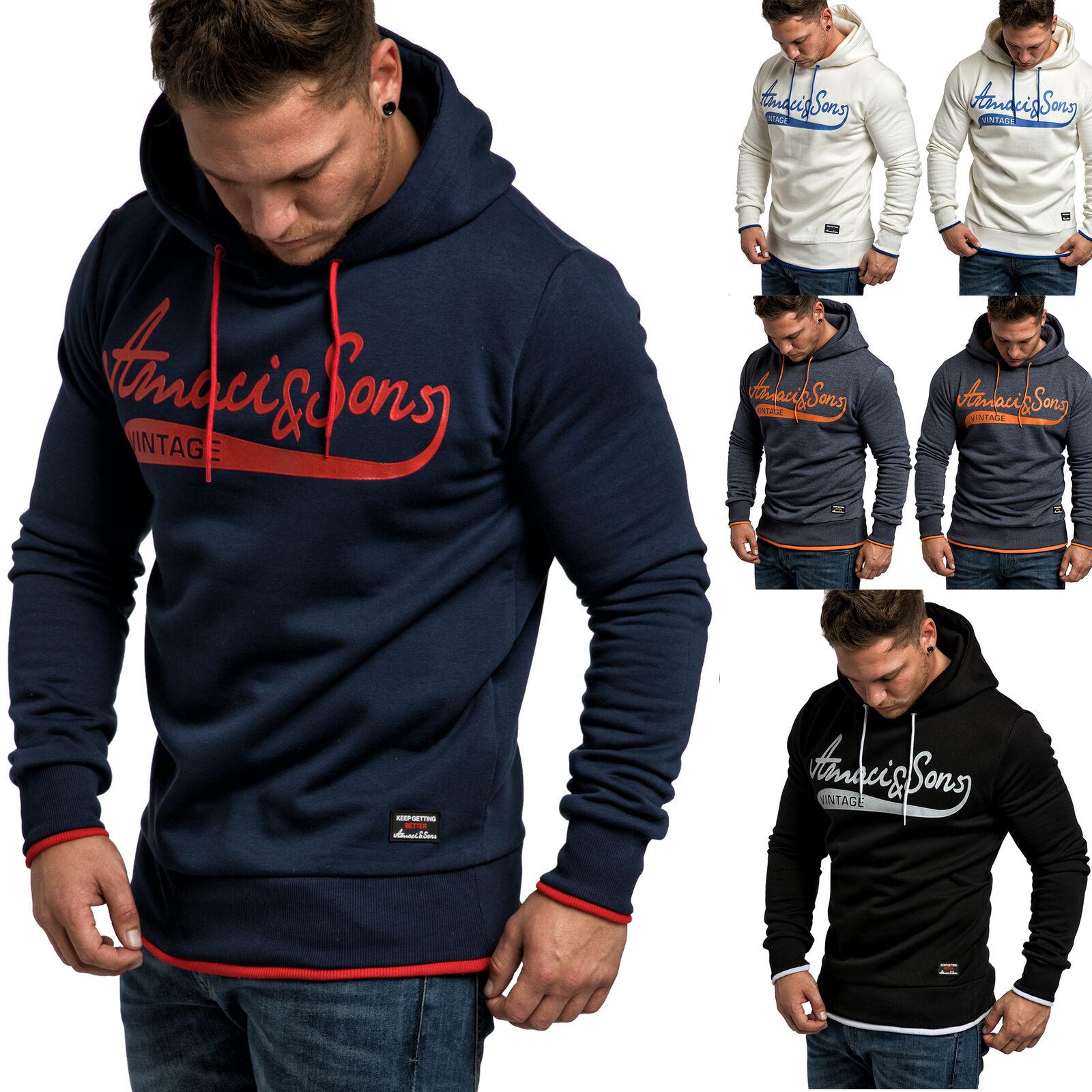 Herren Basic Kapuzenpullover Sweatjacke Pullover Hoodie Sweatshirt 4054