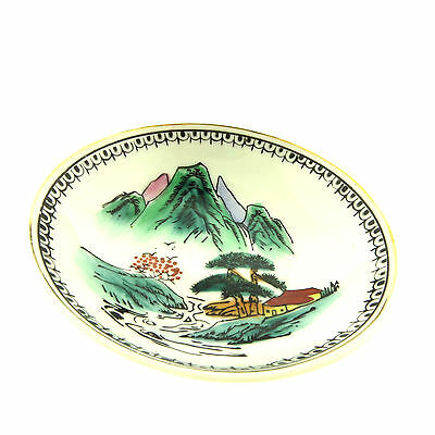"""Antique Chinese Small Porcelain Plate Dish 4x1"""" No 4"""