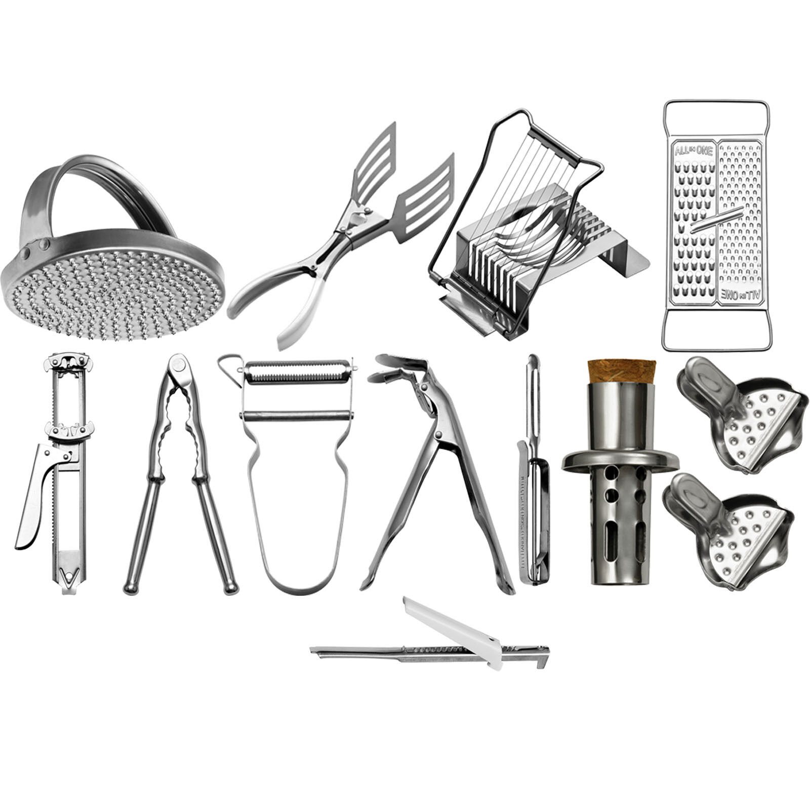 12 Assorted Bygone Kitchen Gadgets Metal Grater Peeler Kitch
