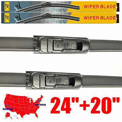 24  20 Windshield Wiper Blades U  J hook Bracketless All Season Set of 2