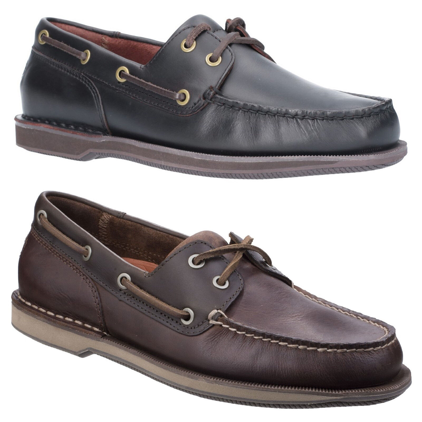 f6aa6d75c63 Rockport Perth Boat Shoes Mens Padded Leather Classic Casual Smart Loafers