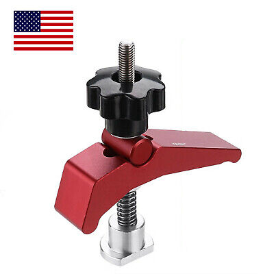 Aluminum Alloy Quick Acting Hold Down T-slot T-track Clamp Set Woodworking Tool T Slot Clamp