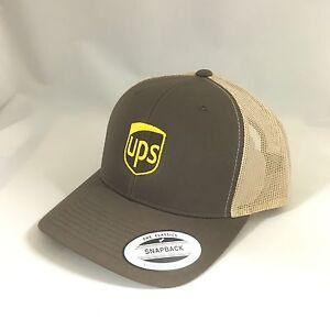 UPS Trucker Mash Snapback Cap United Parcel Service Hat 2Tone Yupoong Adjustable