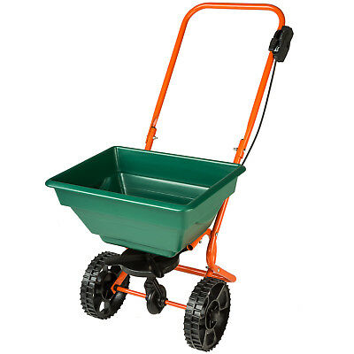 Broadcast spreader 25 lts capacity salt fertiliser grit seed grass spread garden