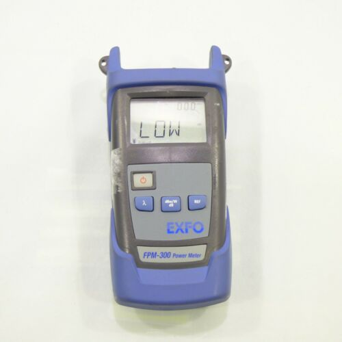 Exfo FPM-300 Fiber Optical Power Meter FPM-302 w/ Carry Case & charger