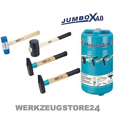HAZET 4-tlg. Hammer-Satz in JumBox 4.0 - 2140/4 - Schlosser- / Gummihammer-Satz