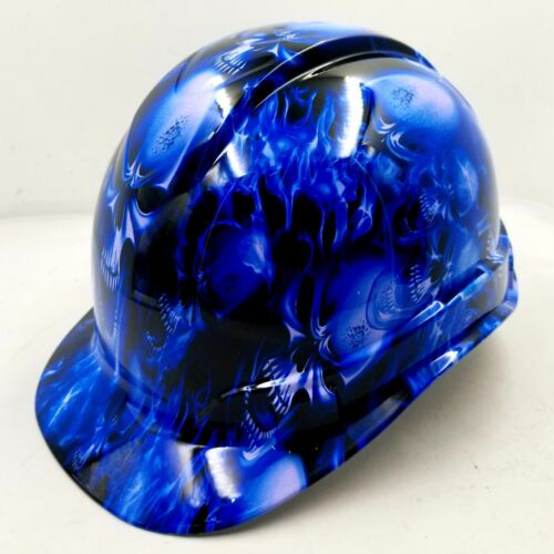 Hard Hat CAP STYLE custom hydro dipped , OSHA approved ICE SKULL LIMITED EDITION 3