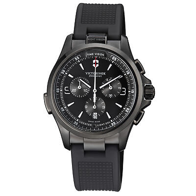 Victorinox Night Vision Quartz Movement Black Dial Men's Watch 241731