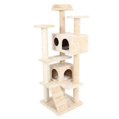 "HIDING Cat Tree™ 50"" Play House Condo Furniture Bed Tower Scratch Post Pole"