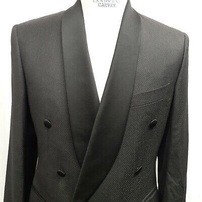 Pal Zileri Black Evening Smoking Jacket Satin Lapel Sport Coat EU 50 US 40 38