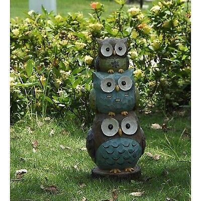 Stacking Owls Family - Figurine Statue Home / Garden Decor New Outdoor/Indoor