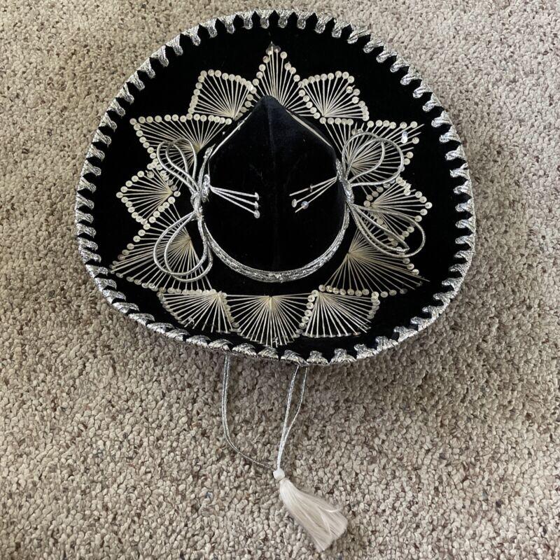 Mariachi Sombrero Hat Black Pigalle 7X Made In Mexico XXXXXXX Hecho En Mexico