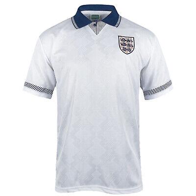 England Retro Soccer Shirt 1990 Mens Home & Away Kit with Player Name Printing
