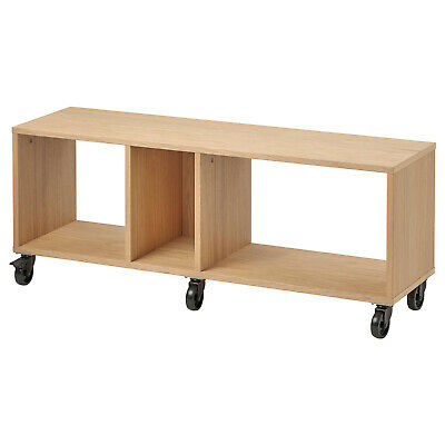 IKEA TV Armario Rollos Eichenfurnier Lowboard Mesa de Tele Mesa Banco 120x34cm