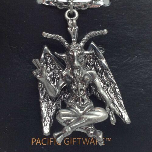 Baphomet Sabbatic Goat Satan Pendant Necklace Pentagram Pewter Jewelry