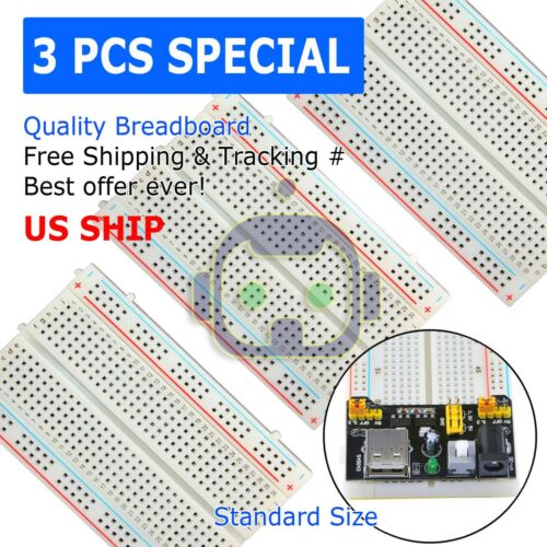 3X Mini 400 Point Solderless Prototype PCB Breadboard Protoboards US