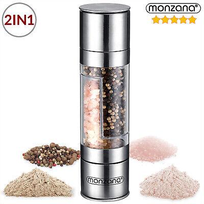 Molinillo de Especias 2en1 Molino doble para sal pimienta de acero inoxidable