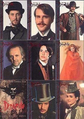 BRAM STOKER'S DRACULA MOVIE 1992 TOPPS COMPLETE BASE CARD SET OF 100