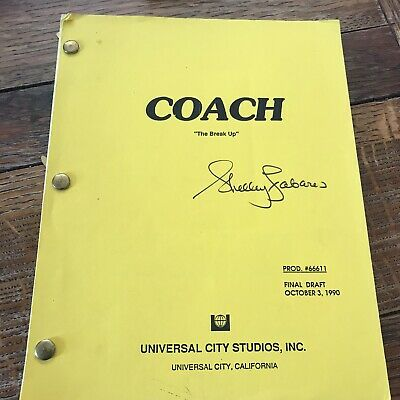 Coach Original TV Script Signed Shelley Fabares 1990 The Break Up
