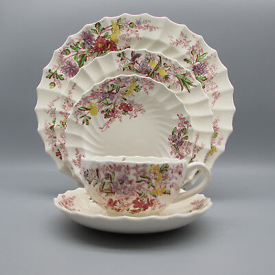 Spode China England FAIRY DELL 5pc Place Setting